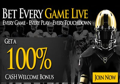 NFL Betting Fantastic Sign up Reload 100% Cash Bonus at Bookmaker Limited Time Exclusive Offer