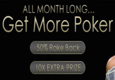 50% Rake Back on August At 5Dimes Poker