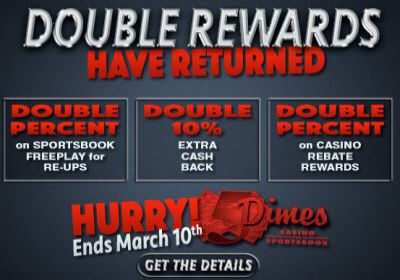 The 5Dimes Double Reward Special is BACK