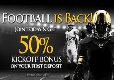 Get 50% Bonus at Bookmaker this NFL season